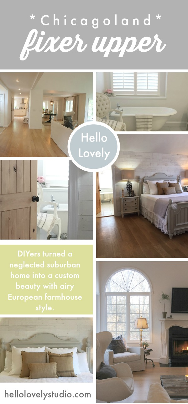 Chicagoland Fixer Upper by Hello Lovely Studio. #europeancountry #frenchcountry #interiordesign #renovations #housemakeover
