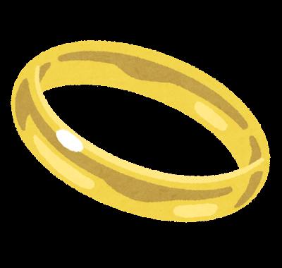 金の指輪のイラスト