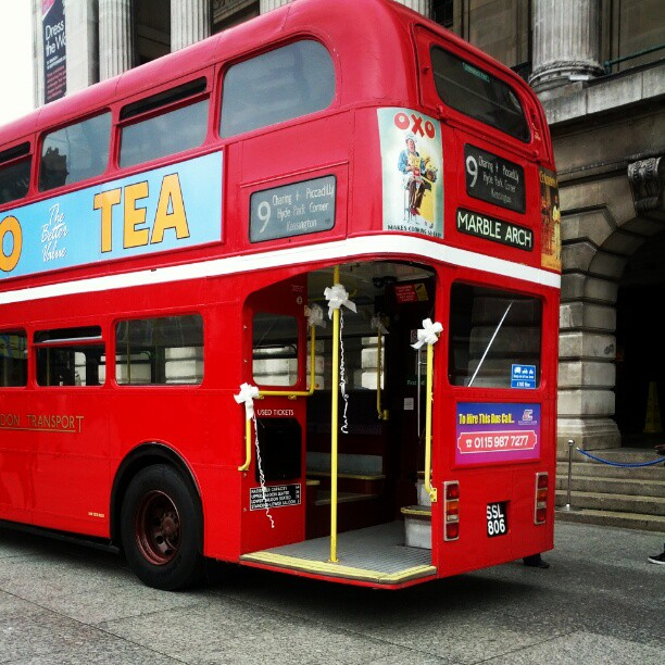 A picture of a Red London Bus