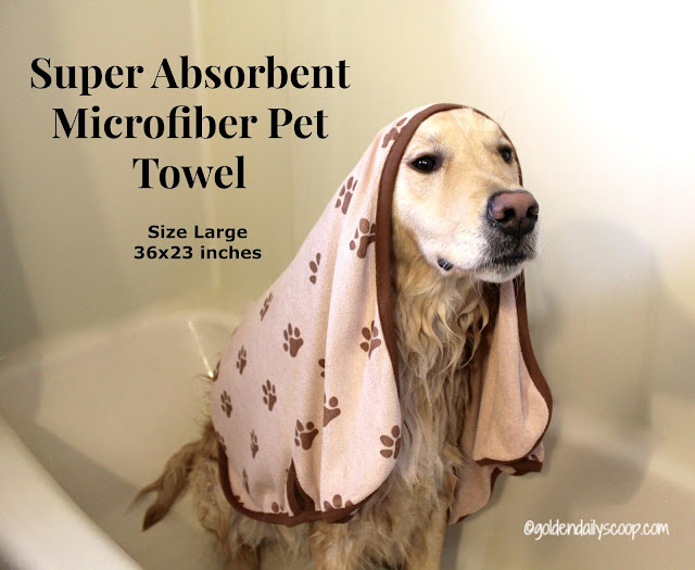microfiber super absorbent pet towel for large dogs