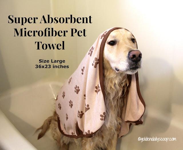 microfiber super absorbent pet towel for large dogs