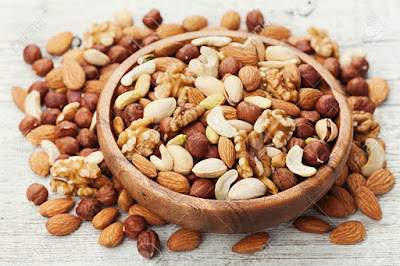 Nuts to grow your hair faster and thicker
