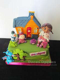 cake Doc McStuffins house
