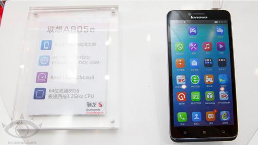 Lenovo A805e, Phablet 5,5 Inci dengan 64-bit Snapdragon Cuma Rp2 Jutaan