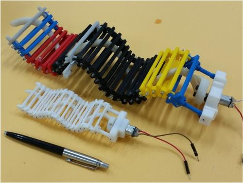 Tinuku Robot Single Actuator Wave-like (SAW) Terinspirasi Gerakan Ular