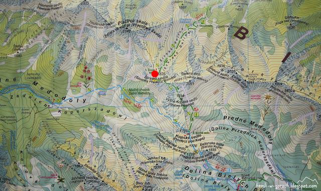 Szeroka Przełęcz Bielska na mapie