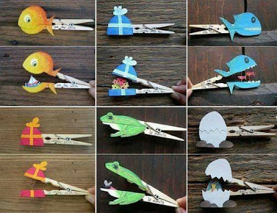 Figuras para niños con palillos