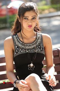 Actress Poojitha Pallavi Naidu Stills in Black Short Dress at Inkenti Nuvve Cheppu Movie Platinum Disc Function  0216.JPG