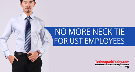 No tie for UST Global in dress code
