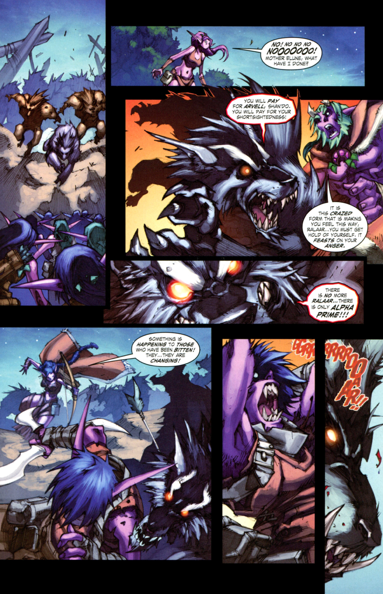 Read online World of Warcraft: Curse of the Worgen comic -  Issue #3 - 22