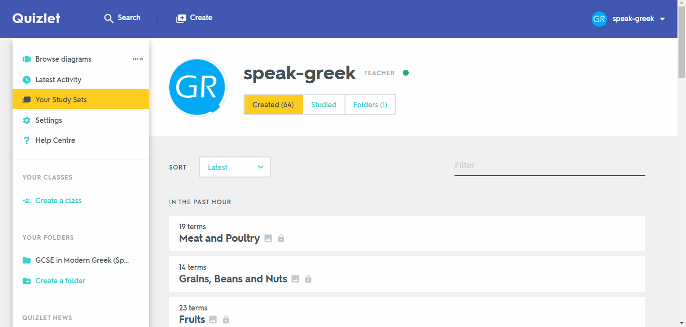 Learn Greek with our flashcards on Quizlet! - Speak Greek