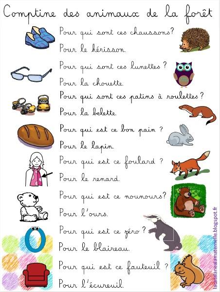Comptine des animaux de la forêt (version LaCatalane)
