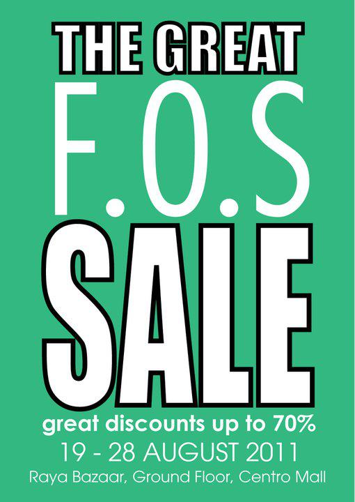 40ec79f4a The Great F.O.S. Sales at Centro Mall (19 August - 28 August)