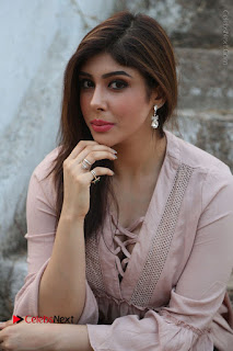 Telugu Actress Aditi Singh Stills in Leather Pants at Nenu Kidnap Iyanu Movie Press Meet  0086.JPG