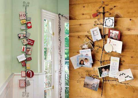 Decorating on a budget the holiday helper - Christmas card display ideas ...