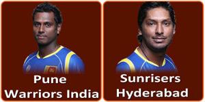 आइपीएल 6 का बाइसवां मैच पुणे वरिवर्स इंडिया और सनराइजर्स हैदराबाद के बीच होना है।