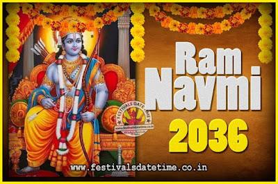 2036 Ram Navami Pooja Date & Time, 2036 Ram Navami Calendar