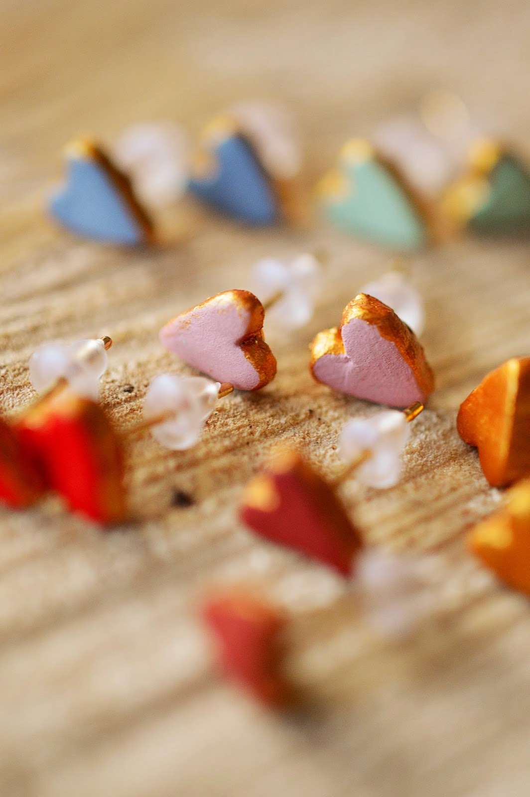 DIY Clay Love Heart Earrings | Motte's Blog