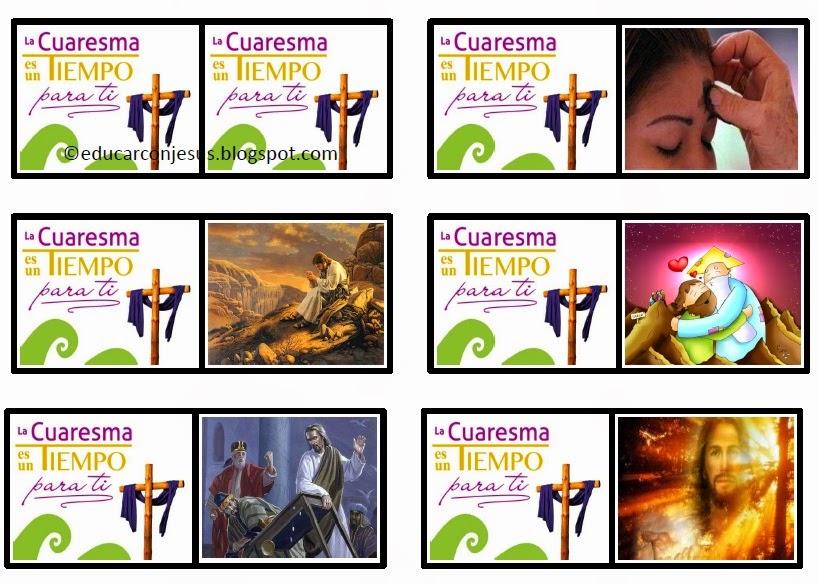 La Catequesis El Blog De Sandra Dominos De Cuaresma Para Imprimir
