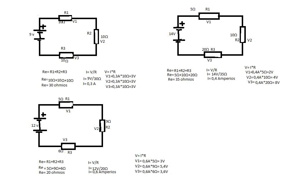 ejercicios de circuitos en serie,circuits