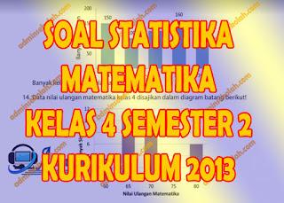 Soal Statistika Kelas 4 SD Kurikulum 2013 Revisi 2018 Semester 2
