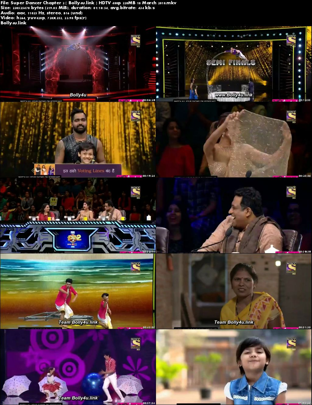 Super Dancer Chapter 2 HDTV 480p 200MB 18 March 2018 Download