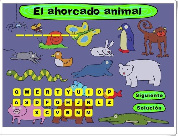 """""""El ahorcado animal"""" (Juego de Vocabulario de Primaria)"""