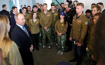 President Putin met with members of a student construction brigade.