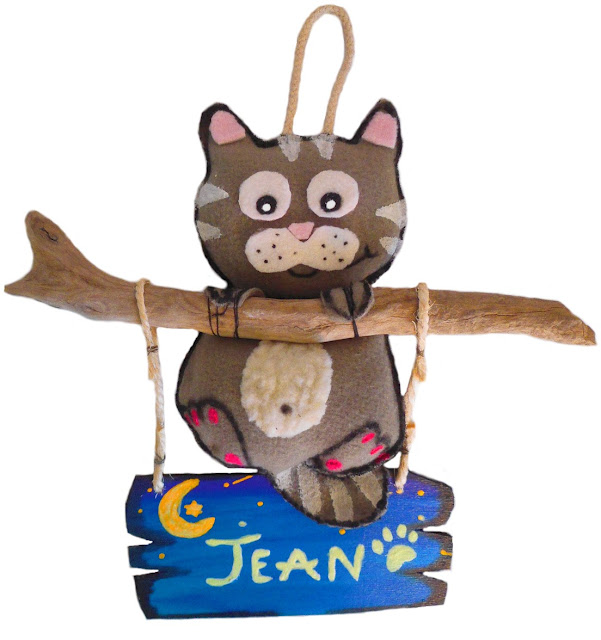 plaque de porte originale chat