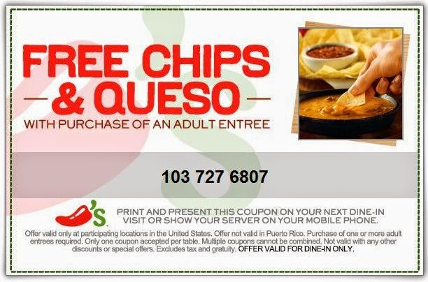 chilis coupons 2016