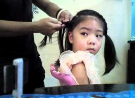 Kepang Rambut Pendek Anak Kecil