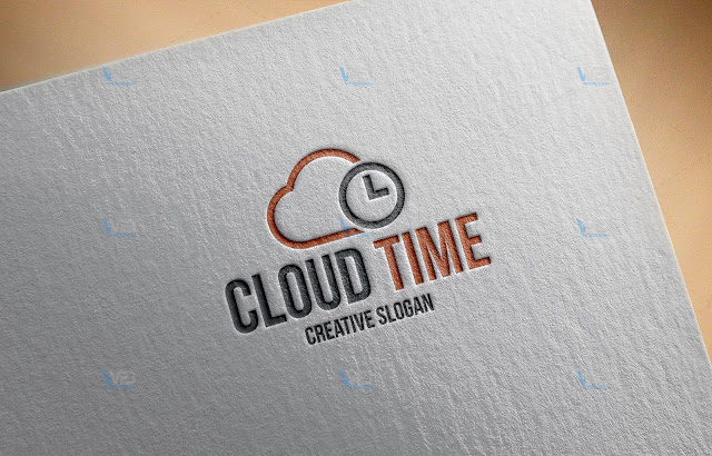 Cloud Time - WaDesiGh Logo Template