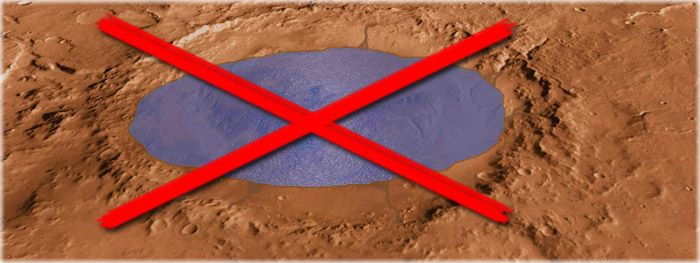 Lago de água líquida foi descoberto em Marte - Não é bem assim...