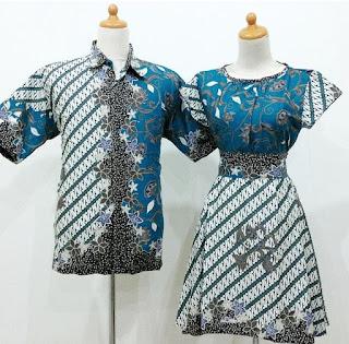 model baju batik couple anak muda masa kini