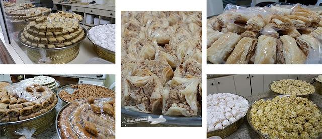 Doces árabes deliciosos da Albayan, em Foz do Iguaçu, Paraná