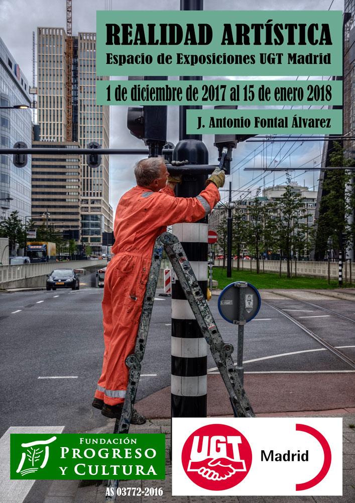 Cartel exposición Realidad Artística sede UGT en Madrid
