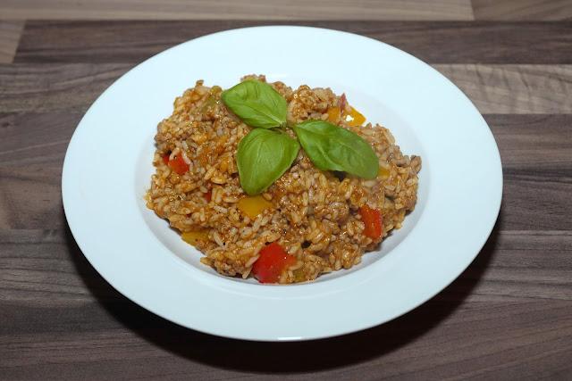Paprika-Hack-Reis-Pfanne | Rezept | Kochen | Essen