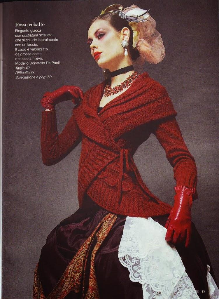 Мир хобби: Красный жакет (вязание спицами)