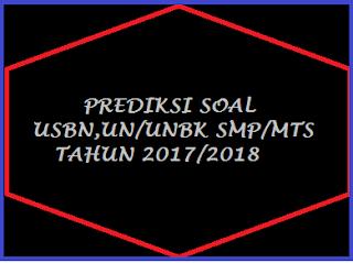 ini merupakan soal terbaru yang akan kami Prediksi Soal USBN PKn SMP/MTS Tahun 2018
