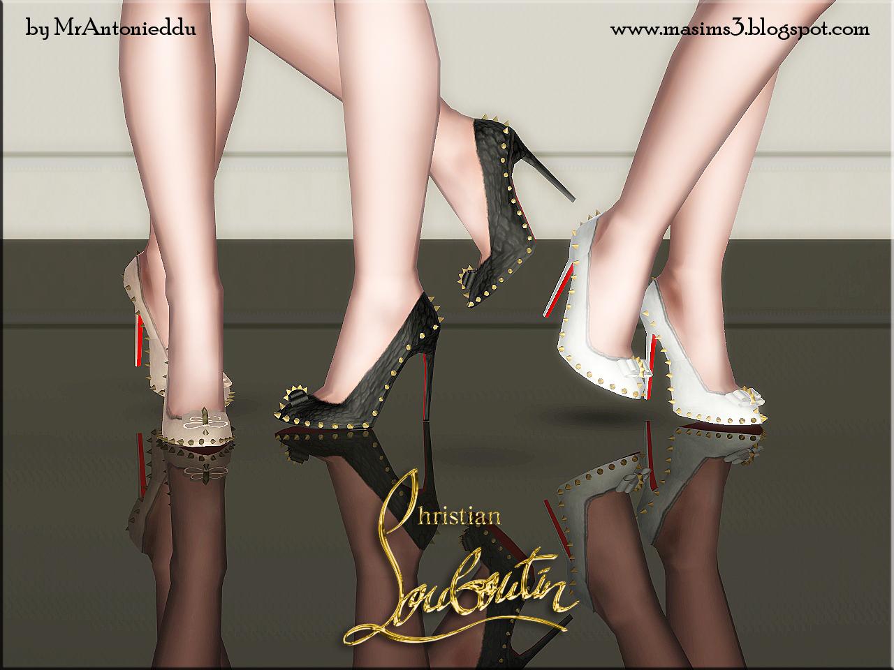 check out a6a0a e02ce Christian Louboutin Lucifer Bow Stiletto Shoes