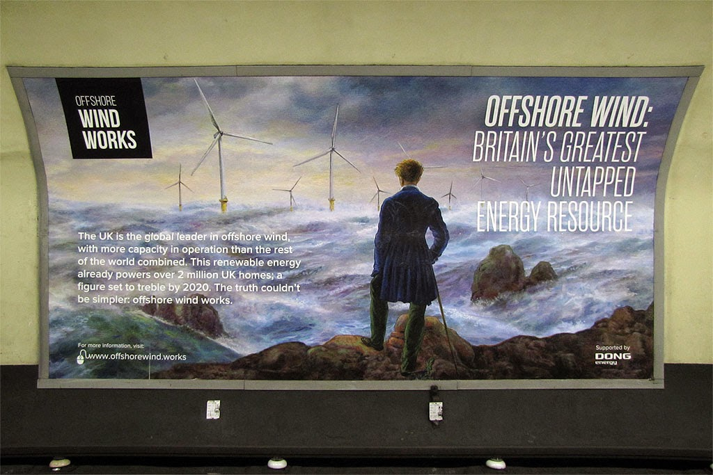 DONG Energy's Offshore Wind Works, Central line, Queensway tube station, London