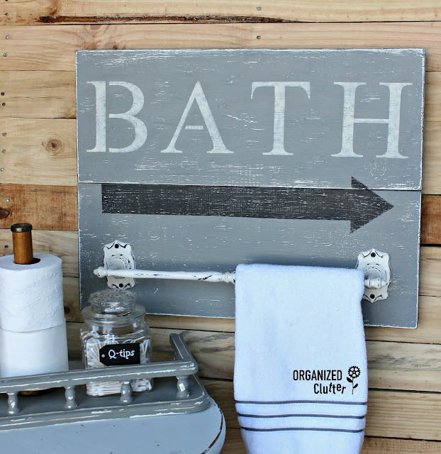 Thrift Shop Towel Bar Upcycle organizedclutter.net