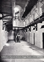 Cellblock in Female Division, Boggo Road Gaol, Brisbane, 1903.