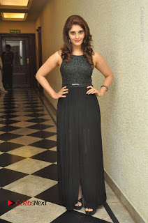 Actress Surabhi Stills in Black Long Dress at turodu Audio Launch  0144.JPG