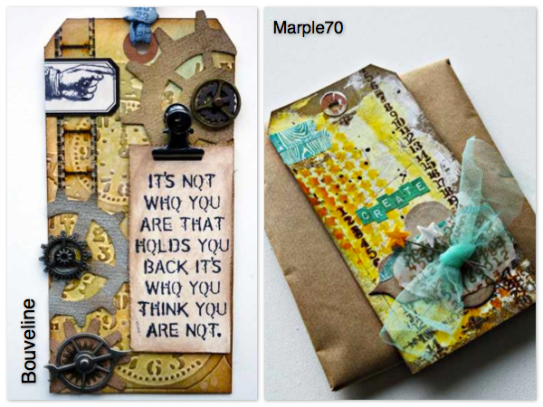 Material der Woche | Tags www.danipeuss.de | Tim Holtz & Mixed Media
