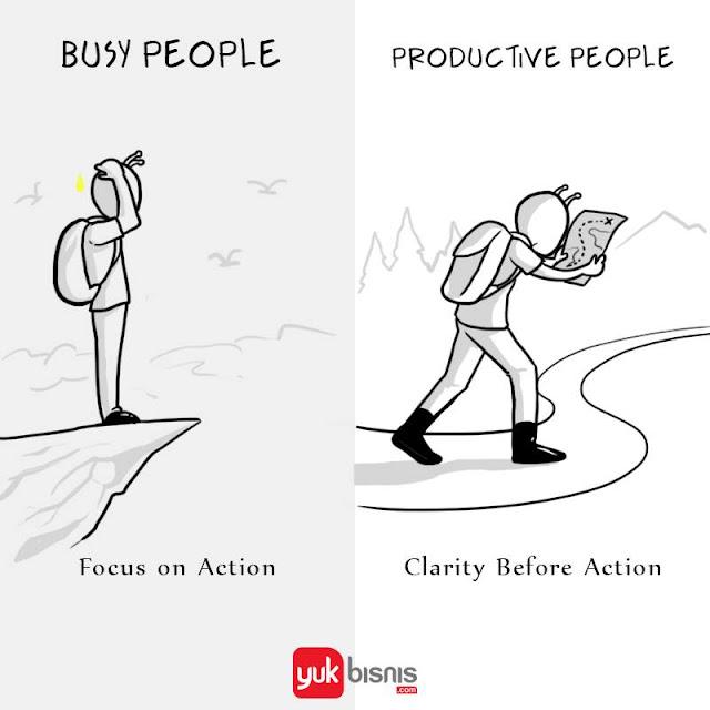 Beda orang produktif dan orang sibuk