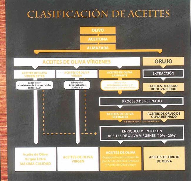 CLASIFICACION DE LOS ACEITES DE OLIVA