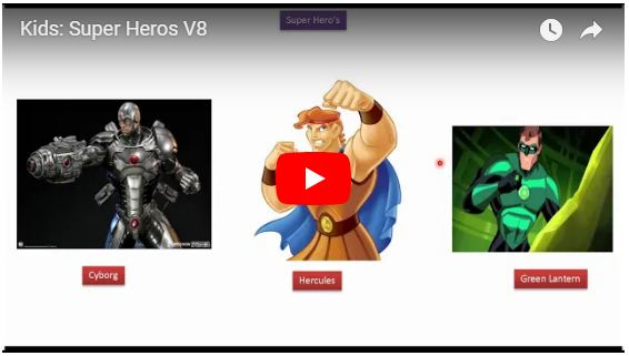 Kids: Super Heros V8