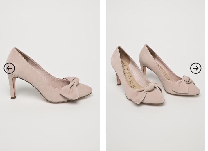 Tamaris - Pantofi cu toc eleganti roz cu fundita