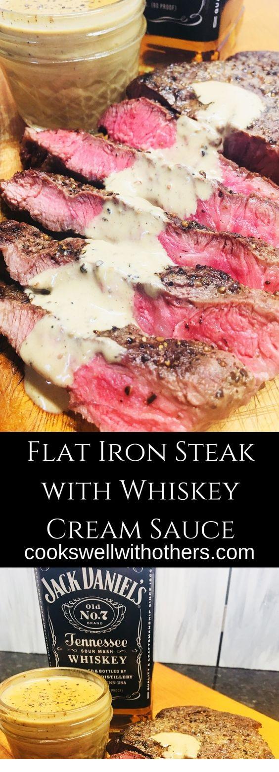Flat Iron Steak With Whiskey Cream Sauce